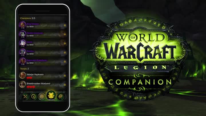 Bande annonce world of warcraft legion l 39 application companion expliqu e - World of warcraft sur console ...