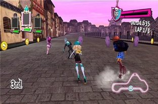Images Monster High : Course de Rollers Incroyablement Monstrueuse Wii - 1