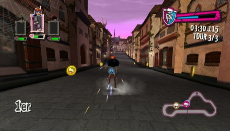 Images Monster High : Course de Rollers Incroyablement Monstrueuse Wii - 17
