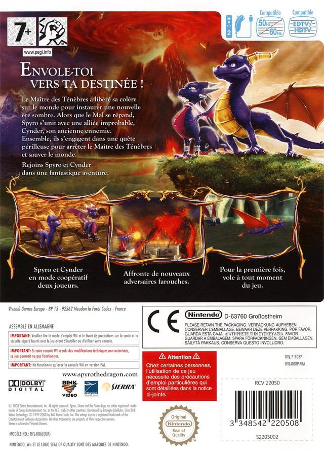 com La Légende de Spyro : Naissance d'un Dragon - Wii Image 2 sur 116