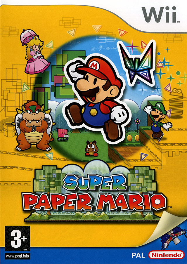 super paper mario sur wii. Black Bedroom Furniture Sets. Home Design Ideas