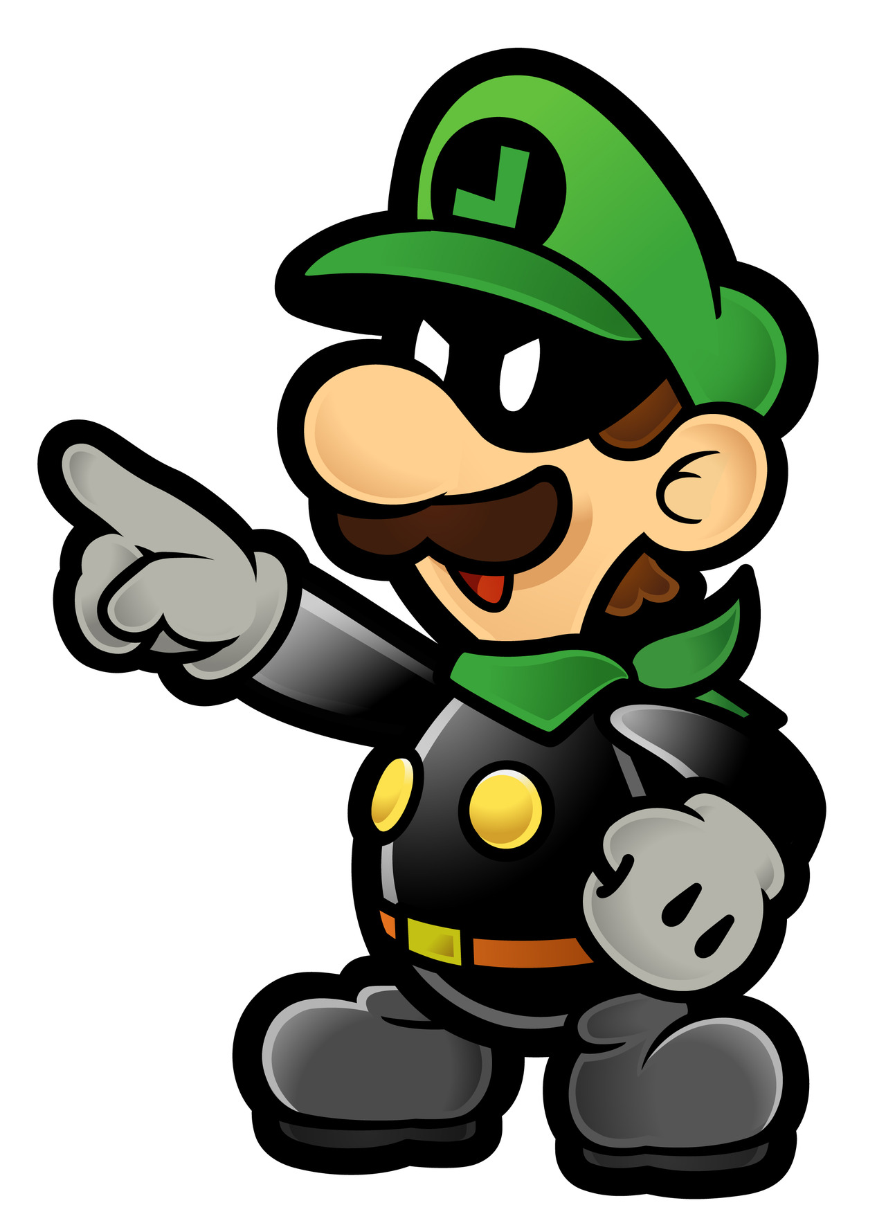 paper luigi This game is based off of the real luigi's mansion dark moon for 3ds but you play as paper mario charecters even paper ghosts credit goes to awsome sonic997 for.