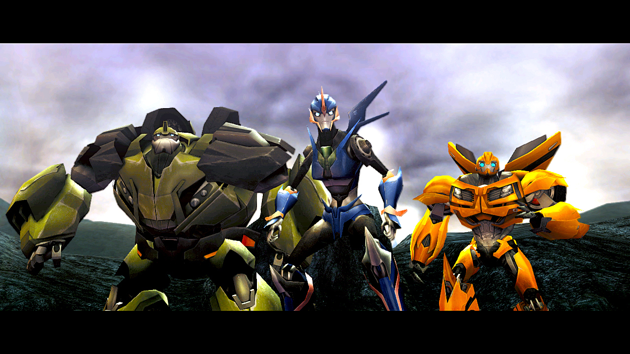 Transformers Prime Arcee and Bumblebee