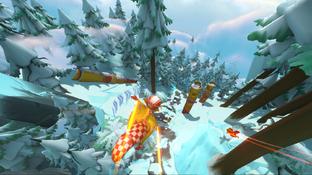Freefall Racers, le jeu de course d'écureuils avec Kinect