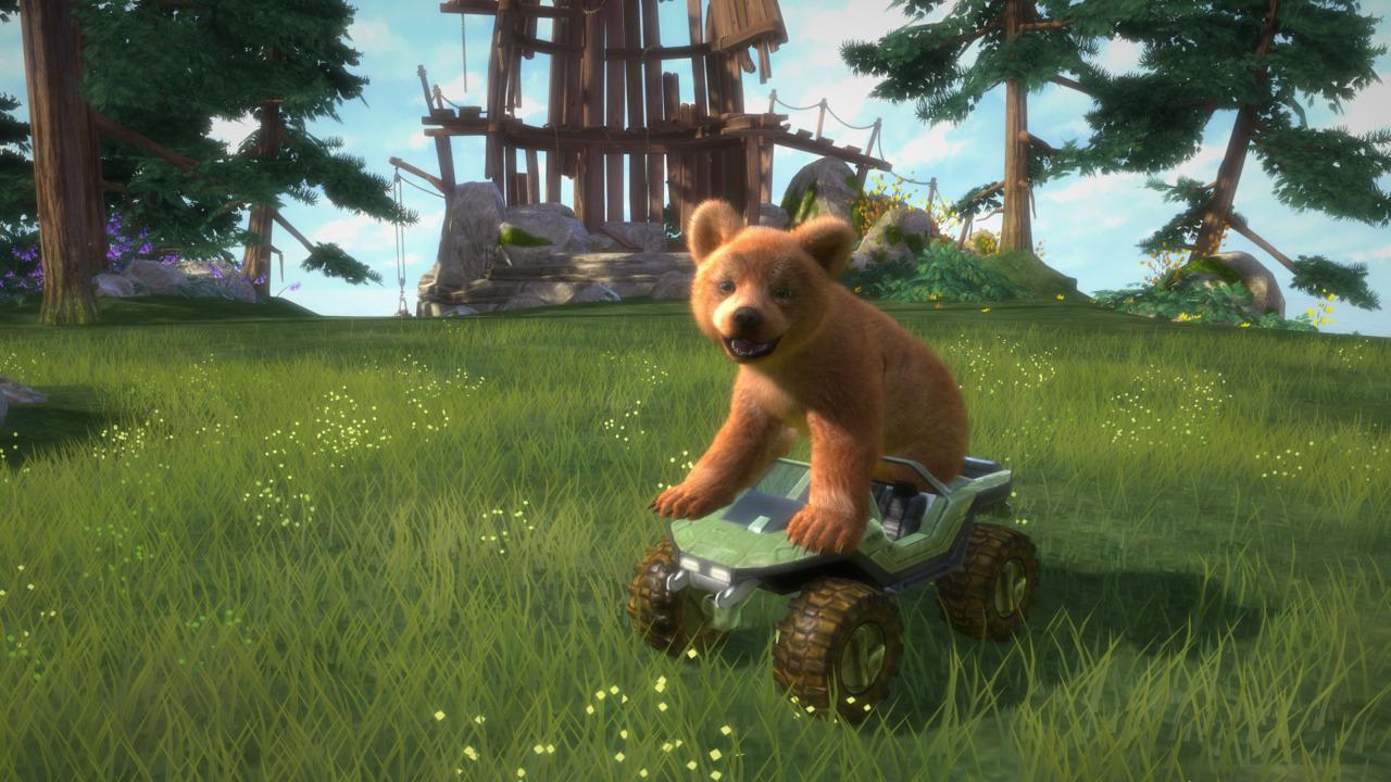 女人与狗thunderftp_探险,搜集,个人化:「kinect 可爱动物:与熊共舞」很适合对岛上环境有
