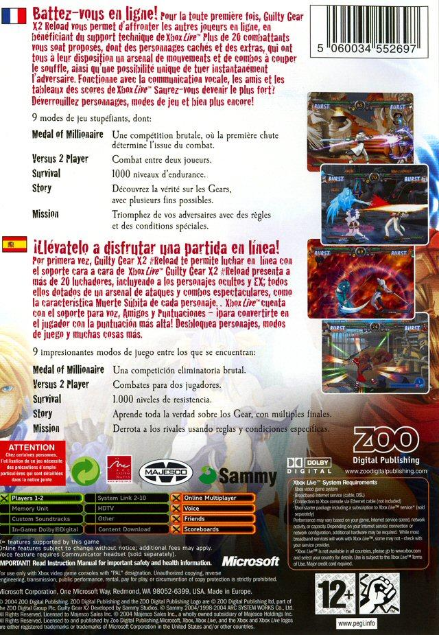 Images Guilty Gear X2 Reload Xbox - 2