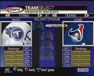 Test NFL 2k3 Xbox - Screenshot 8