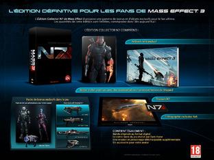 Mass Effect 3: L'édition collector détaillée