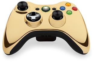 Une manette dorée pour la Xbox 360