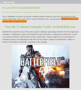 Battlefield 4 le 29 octobre prochain ?
