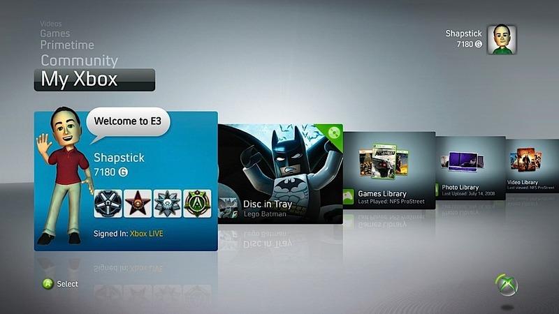 La nouvelle interface xbox n cessitera 124 mo d 39 espace disque actualit s - La xbox one lit elle les jeux xbox 360 ...