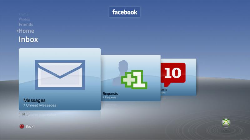E3 2009 : Facebook débarque sur Xbox 360 Facebook_360_4