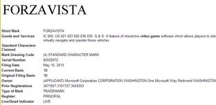 Microsoft dépose la marque Forzavista