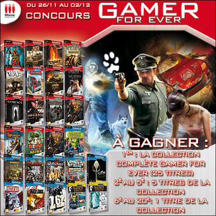 Concours Gamer for Ever : Gagnez 25 jeux