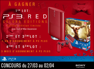Gagnez une PS3 rouge avec God of War Ascension