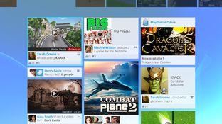 Des visuels de l'interface PS4