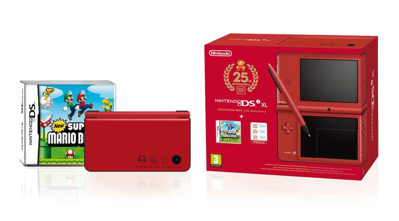 Nintendo DSi XL rouge special 25 ans de Mario