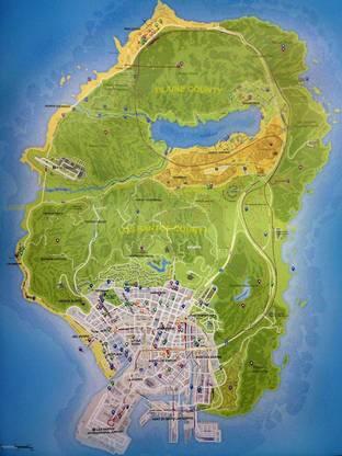 GTA 5 : La map dévoilée (spoiler)