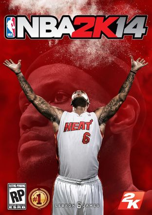 NBA 2K14 : LeBron James sur la jaquette