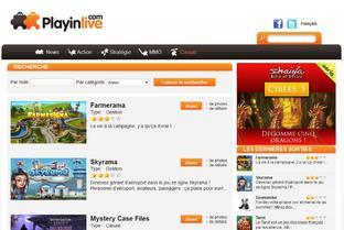 Playinlive.com : Le portail des jeux gratuits