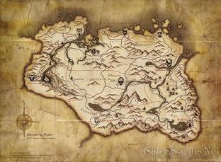 Skyrim: La carte du monde!