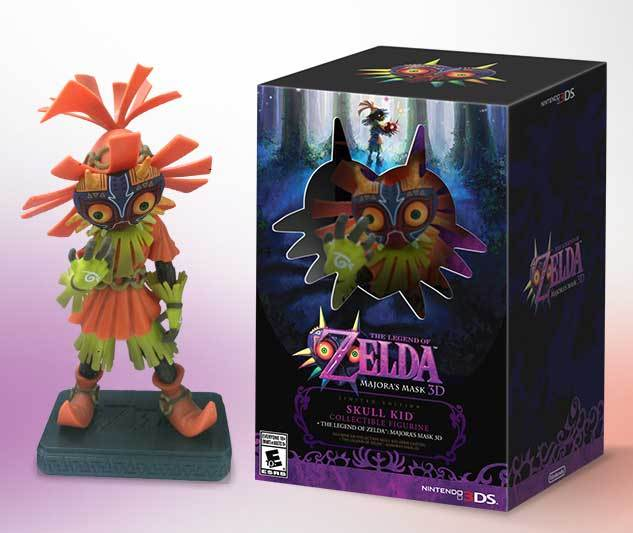 Une figurine Skull Kid avec Zelda : Majora's Mask 3DS aux US