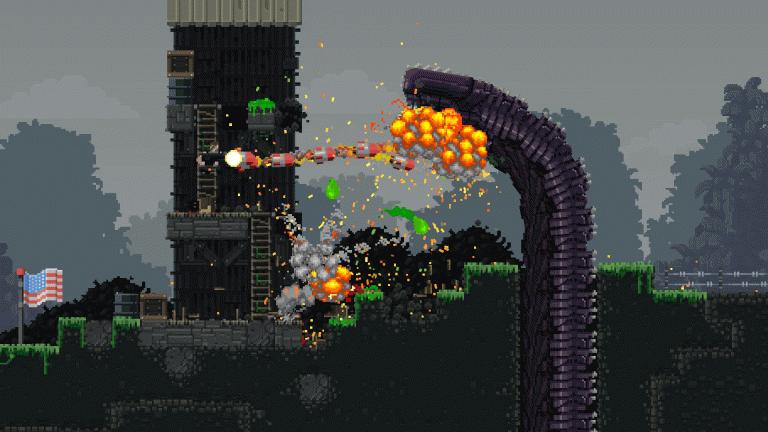 Broforce affronte les aliens !