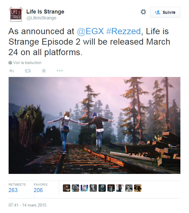 Life is Strange Episode 2 sortira le 24 mars