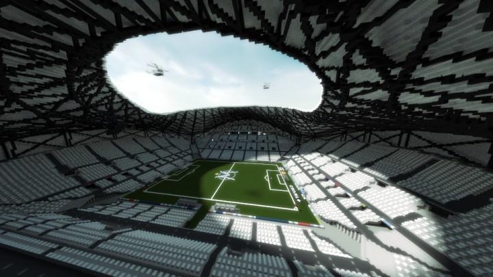 Le stade Vélodrome dans Minecraft