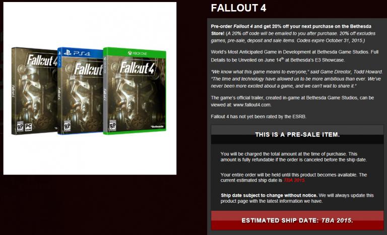 Fallout 4 : Une sortie pour cette année ?