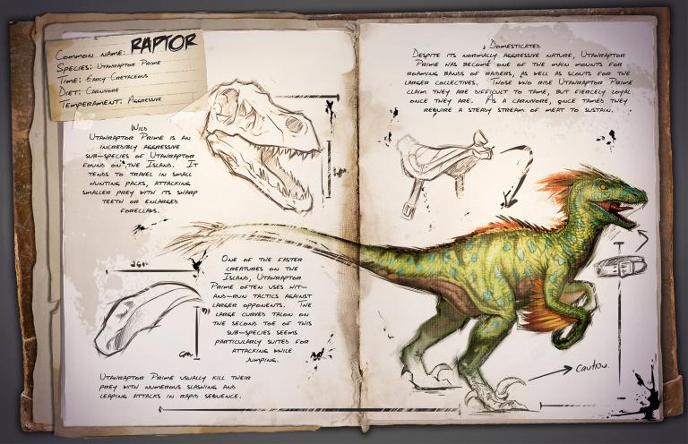 Guide du Dressage du Raptor Ark Survival Evolved