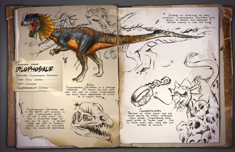 Guide du dressage du Dilophosaur Ark Survival Evolved