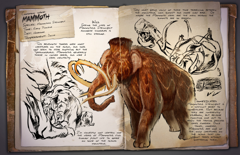Guide du Dressage du Mammoth Ark Survival Evolved
