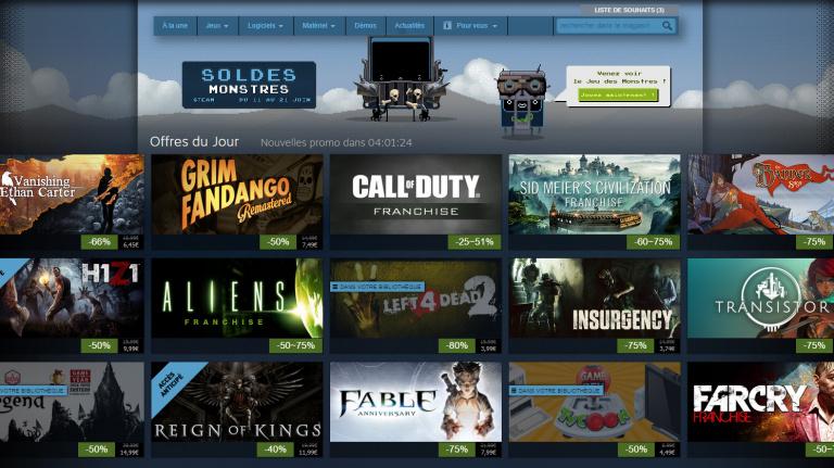 Steam : La barre des 10 millions d'utilisateurs en simultané franchie