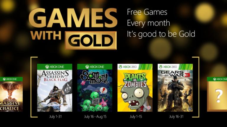 Games with Gold : Gears of War 3 et Black Flag gratuits pour le mois de juillet