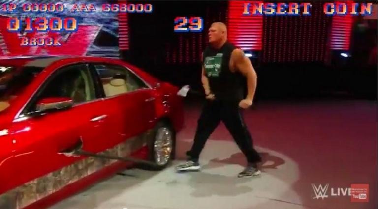 Quand Brock Lesnar se déchaine...
