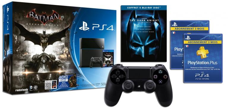 -29% sur la PS4 Batman Arkham Knight + Trilogie The Dark Knight + ... à 399 €
