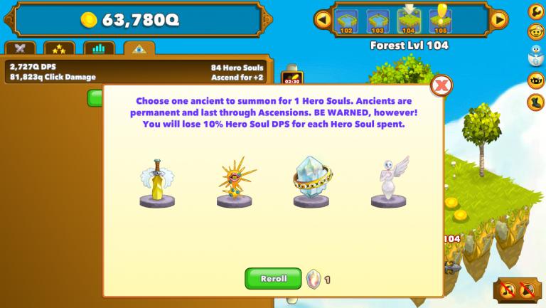 Hero Souls et Anciens - Clicker Heroes - Guide pour