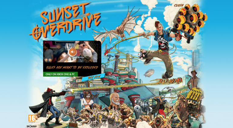 sunset overdrive pas encore de portage ps4 ou pc en vue actualit s. Black Bedroom Furniture Sets. Home Design Ideas