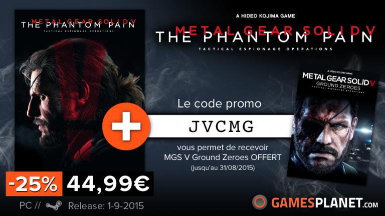 Metal Gear Solid V : The Phantom Pain sur PC à -25% et Ground Zeroes offert !