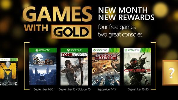 Xbox Gold : Tomb Raider et Crysis 3 gratuits en septembre