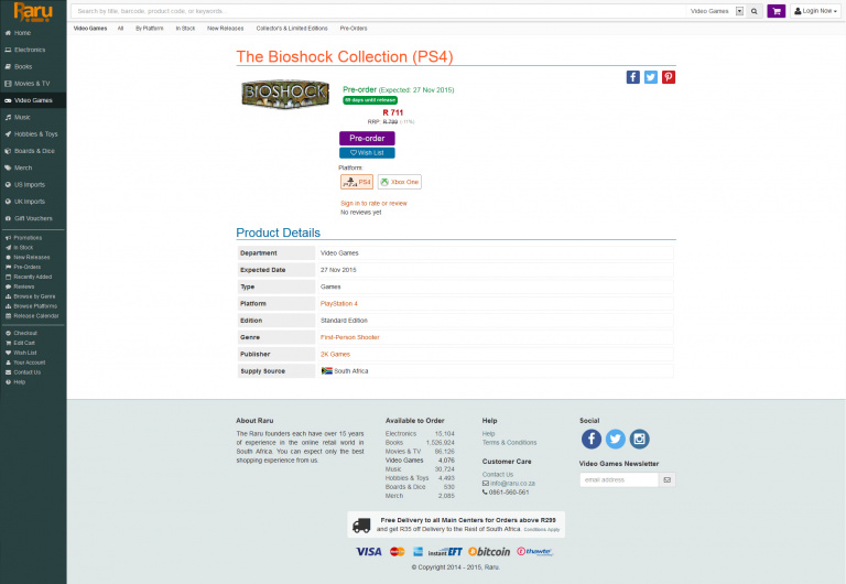 Une BioShock Collection pour PS4 et Xbox One fait son apparition