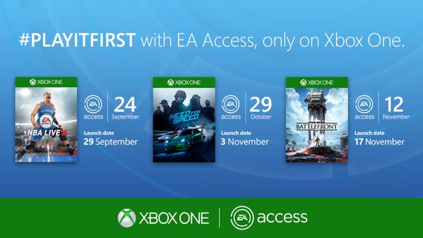 EA Access : Need for Speed et NBA Live 16 annoncés, Battlefront confirmé
