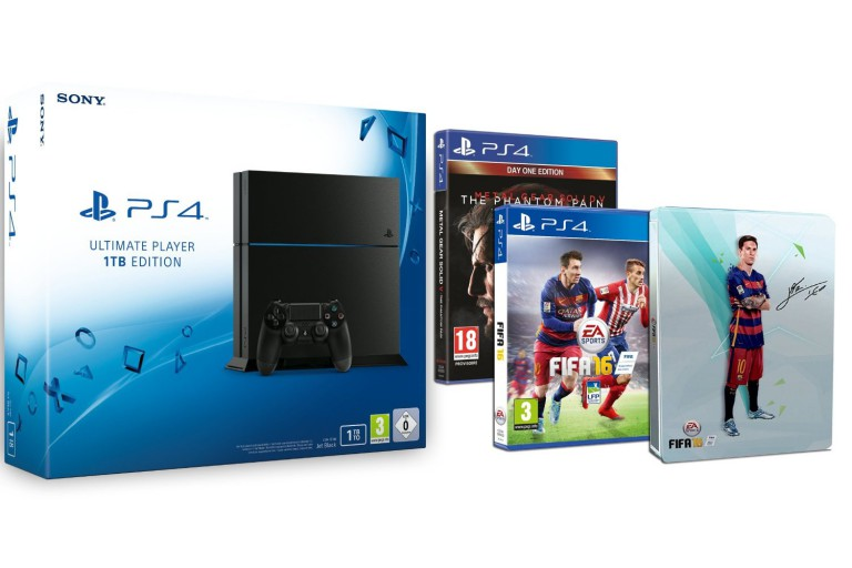 le pack ps4 1 to fifa 16 steelbook fifa 16 mgs v. Black Bedroom Furniture Sets. Home Design Ideas