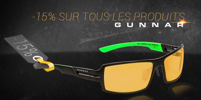 WeAreFans : Une promo sur l'intégralité des lunettes Gunnar
