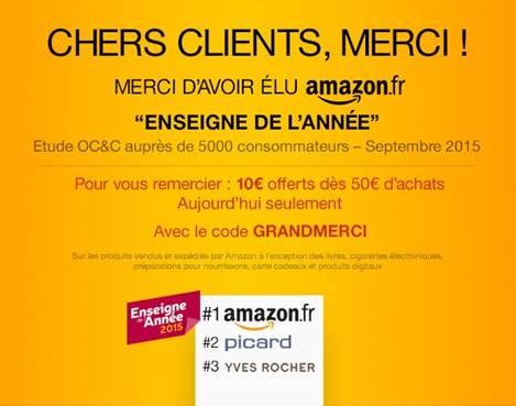 Amazon.fr : 10€ offerts dès 50€ d'achats