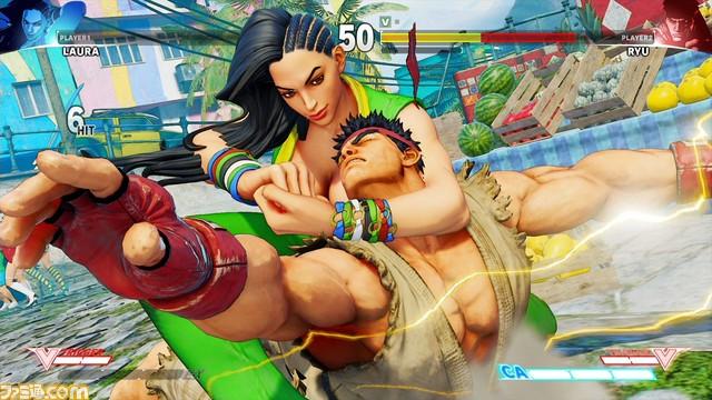 Street Fighter V, la Brésilienne Laura fuite