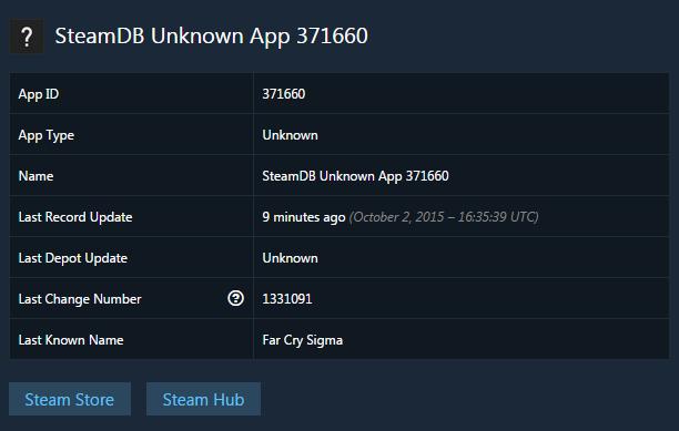 Far Cry: Sigma apparaît dans la base de données de Steam
