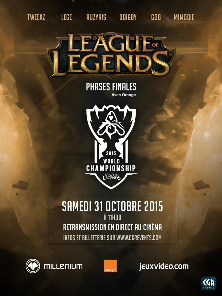 League of Legends - Les phases finales diffusées dans les cinémas CGR