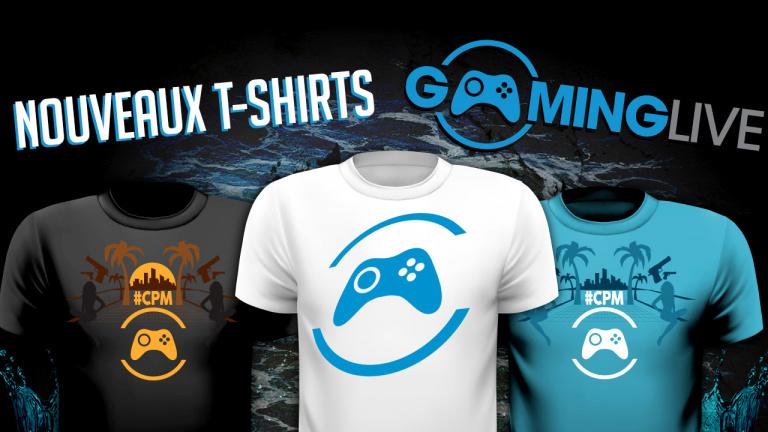 3 nouveaux t-shirts Gaming Live sur notre boutique
